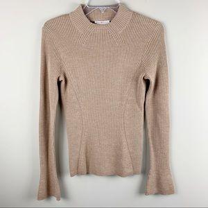 Tory Burch 100% merino wool ribbed sweater
